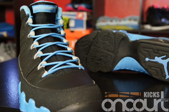 Air-Jordan-IX-(9)-Retro-Black-Matt-Silver-University-Blue-'Slim-Jenkins'-Detailed-Images-2