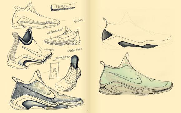 Behind the Scenes Designer Brett Golliff Renders Nike Elite Versions of 10 Classic Basketball Sneakers