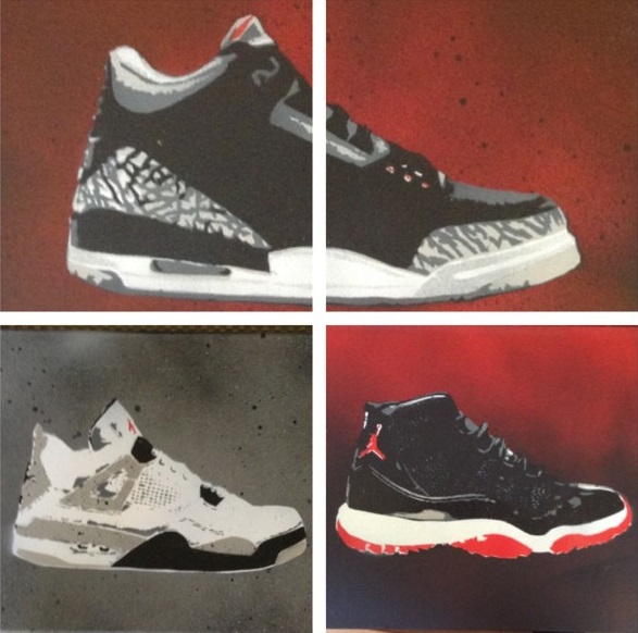 Canvas Spray Paint Sneaker Art by Kevin Garcia