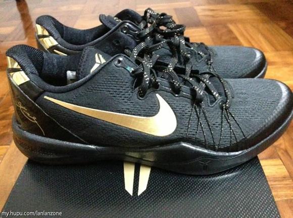 Nike Kobe 8 SYSTEM Elite+ Black/ Gold
