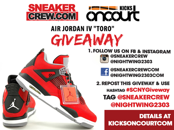 Air Jordan 4 Retro 'Toro' Giveaway Details