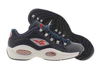 Reebok Question Low Navy Steel  Red – Silver – Available Now 1
