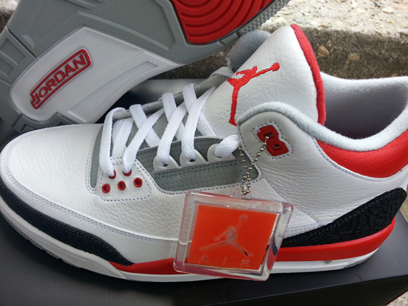 pretty nice d6627 54c34 Air Jordan 3 Retro 'Fire Red' - Detailed Look 6 - WearTesters