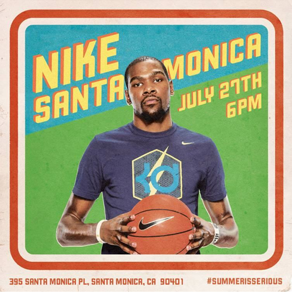 Kevin Durant at Nike Santa Monica on July 27th #SummerIsSerious