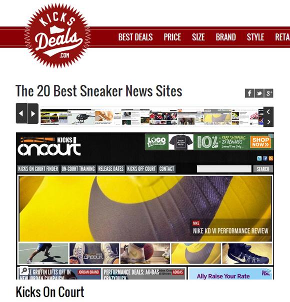 Kicks Deals Lists The 20 Best Sneaker News Sites