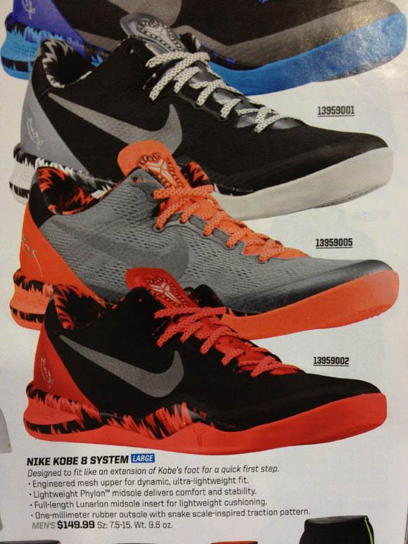 Nike Kobe 8 SYSTEM PP Grey/ Orange