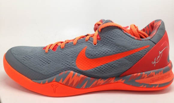 Nike Kobe 8 SYSTEM PP Grey Orange 2