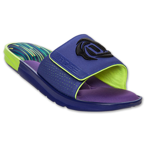 adidas D Rose Slide Sandals - Available Now PURPLE 1
