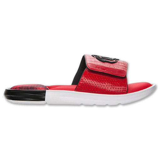 adidas D Rose Slide Sandals - Available Now RED 3