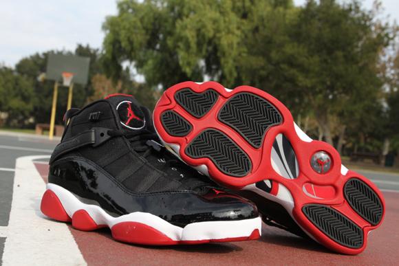 top fashion c522d 8450b Air Jordan 6 Rings Black/ Red - Detailed Look - WearTesters