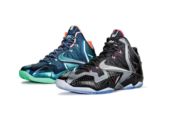 Nike LeBron XI (11) 'Akron Vs. Miami' & 'Miami Nights' – Detailed Look + Release Info 1