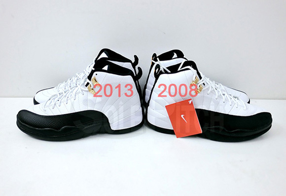 Air Jordan 12 Retro 'Taxi' - 2008 Vs. 2013 Comparison 1