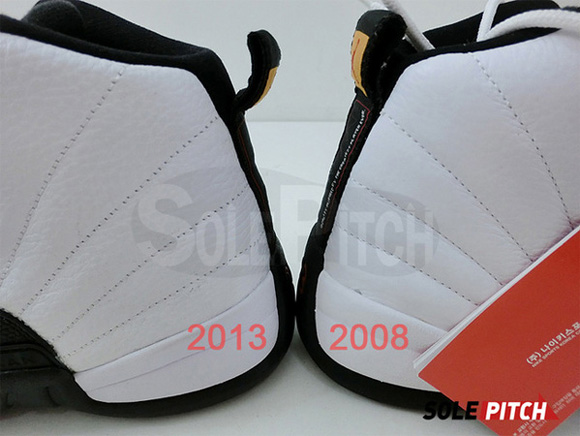 Air Jordan 12 Retro 'Taxi' - 2008 Vs. 2013 Comparison 2