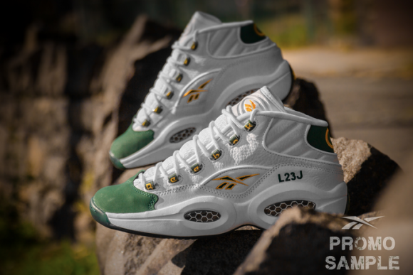 Reebok Question Mid 'For Players Use Only' White: Harvest Green – Restock