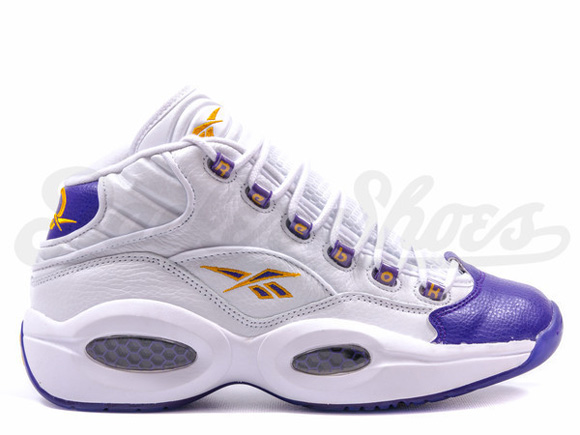 Reebok Question Mid 'For Players Use Only' White Purple - Restock 1