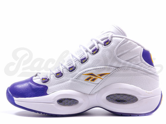 Reebok Question Mid 'For Players Use Only' White Purple - Restock 2