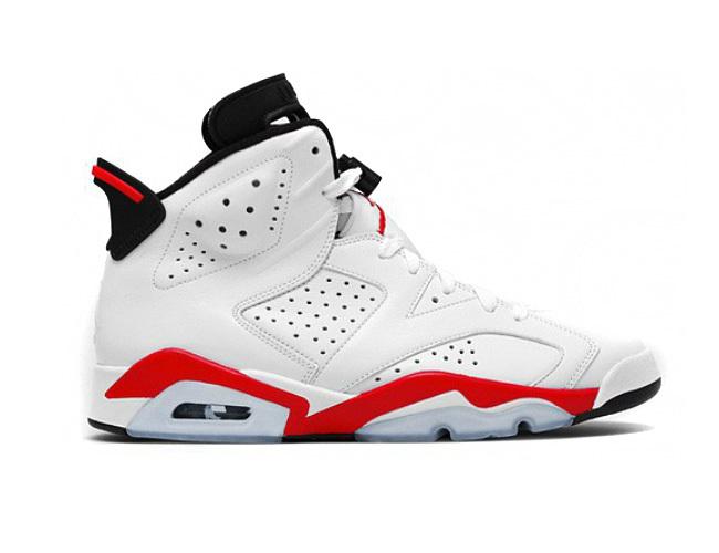 Air Jordan 6 Retro White/ Infrared