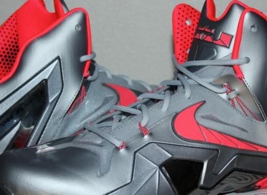 Nike LeBron 11 Elite – Wolf Grey – Crimson – Cool Grey – Black1