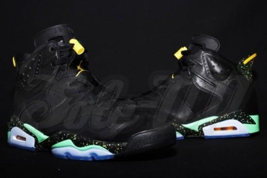 Air Jordan 6 – Black – Green – Yellow 3