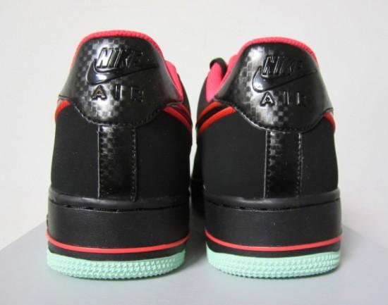 Nike Air Force 1 Low – Black – Laser Crimson – Arctic Green 3