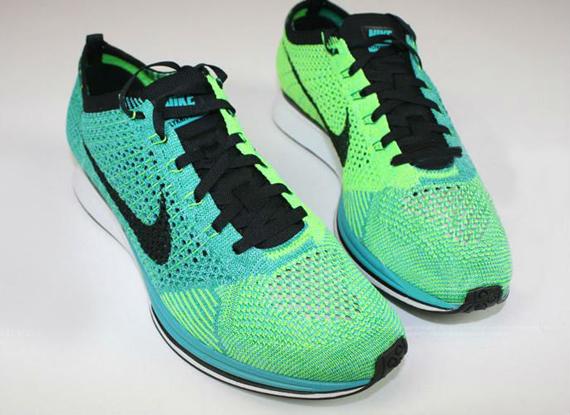 Nike Flyknit Racer Turquoise:Lucid Green 1