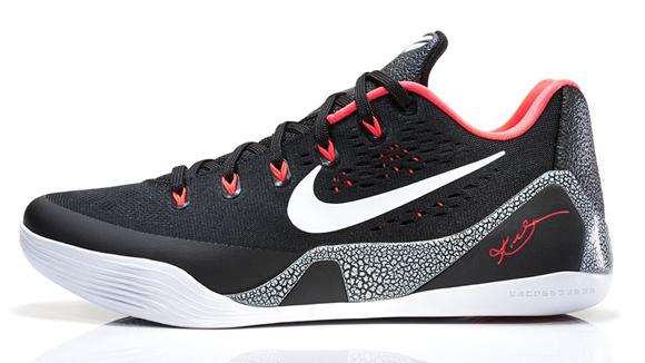 Nike Kobe 9 EM Black White - Laser Crimson - Final Look 2