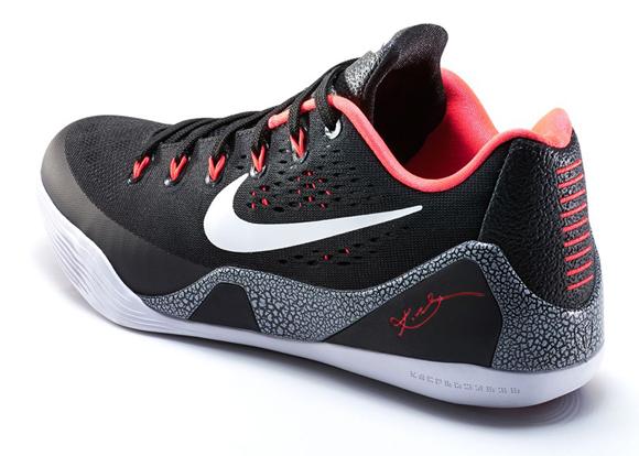 Nike Kobe 9 EM Black White - Laser Crimson - Final Look 3