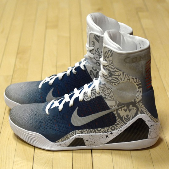 "Nike Kobe 9 Elite ""UCONN"" by Mache Customs for Geno Auriemma 1"