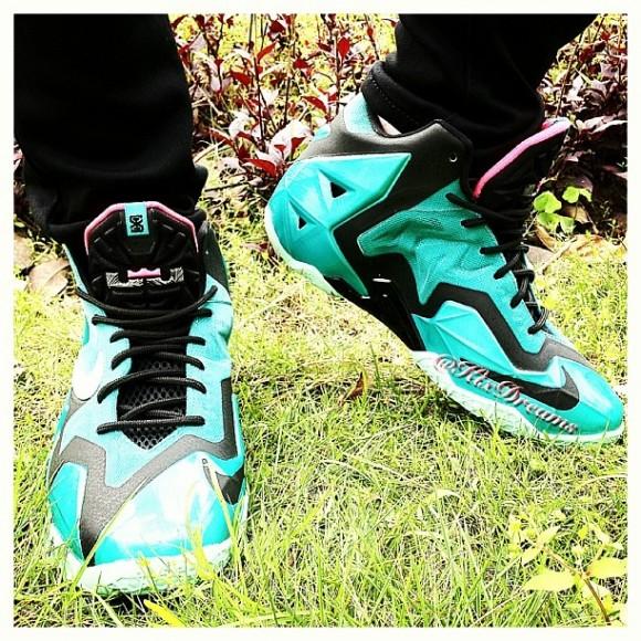 Nike LeBron 11 'South Beach' - On-Feet Look 2