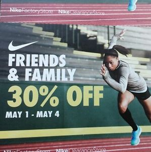 wholesale dealer d0ee9 50dad Performance Deals: Nike Factory/Clearance Store 30% Off ...