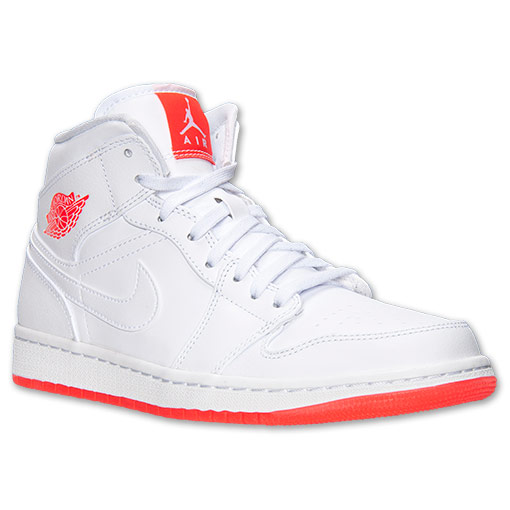 Air Jordan 1 Mid White Infrared 23 2