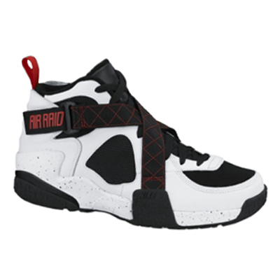 Nike Air Raid White: Black – University Red
