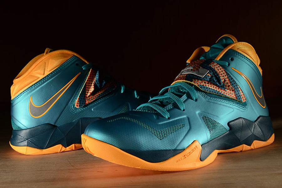 quality design 90dd6 c9f6e Nike LeBron Zoom Soldier 7 – Turbo Green – Atomic Mango ...