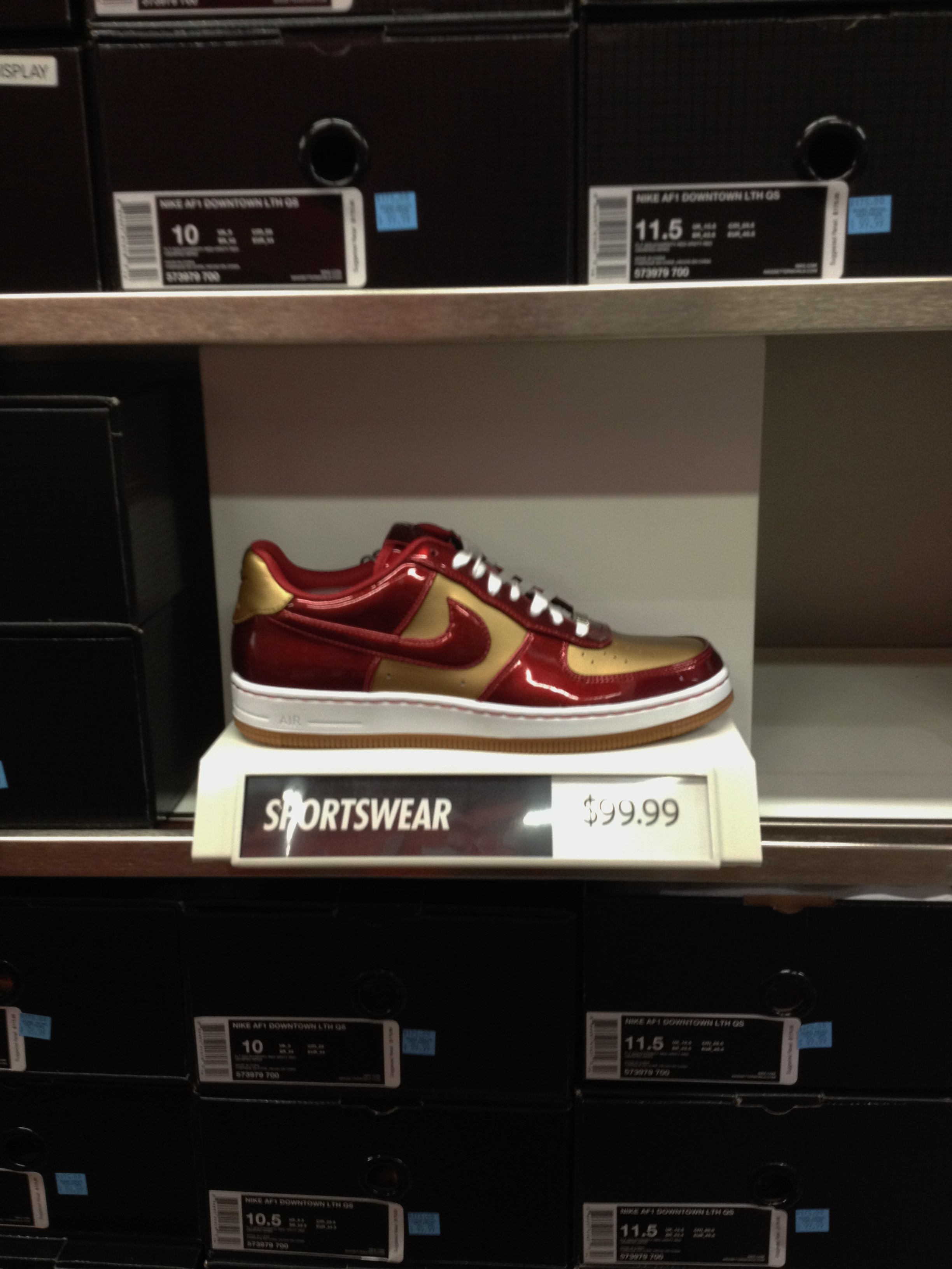 Nike Air Force 1 Downtown LTH QS 'Iron Man' WearTesters