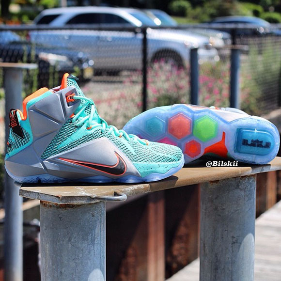 Nike LeBron 12 Turquoise Grey Crimson - Black - Another Look + Release Info 1
