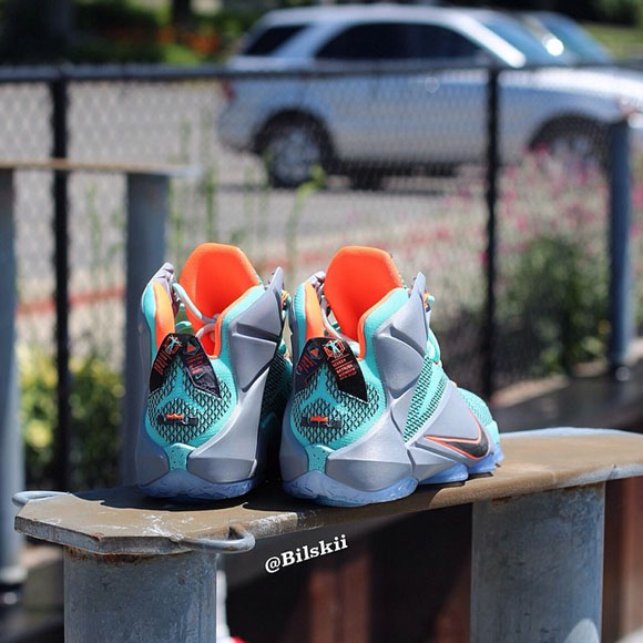 Nike LeBron 12 Turquoise Grey Crimson - Black - Another Look + Release Info 3
