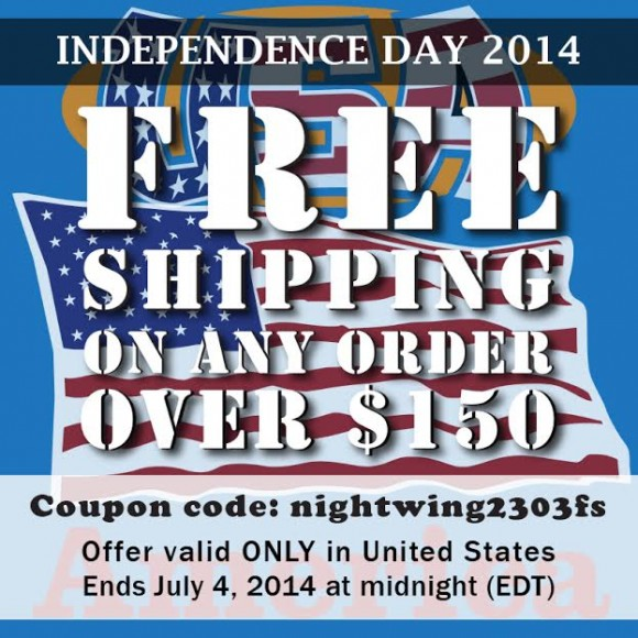 Sunlight Station Offers Free Shipping for Independence Day