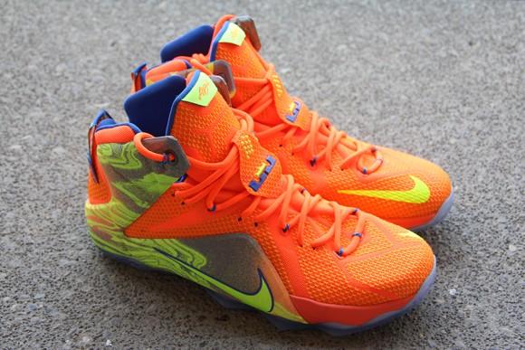 Nike LeBron 12 Orange: Volt - Detailed Look 1