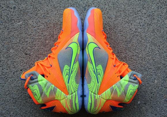 Nike LeBron 12 Orange: Volt - Detailed Look 2