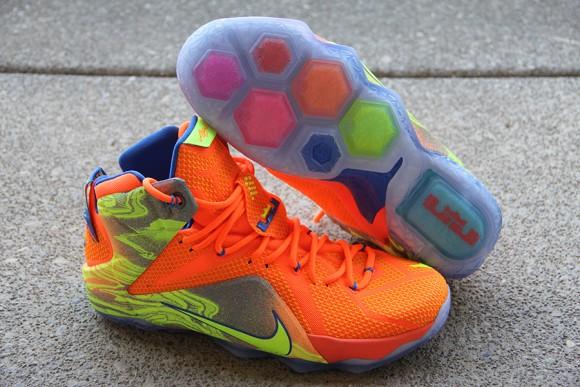 Nike LeBron 12 Orange: Volt - Detailed Look 4