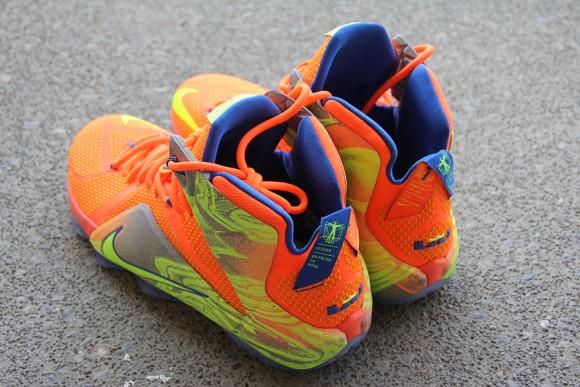 Nike LeBron 12 Orange: Volt - Detailed Look 5