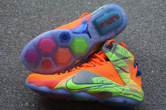 Nike LeBron 12 Orange: Volt - Detailed Look 6
