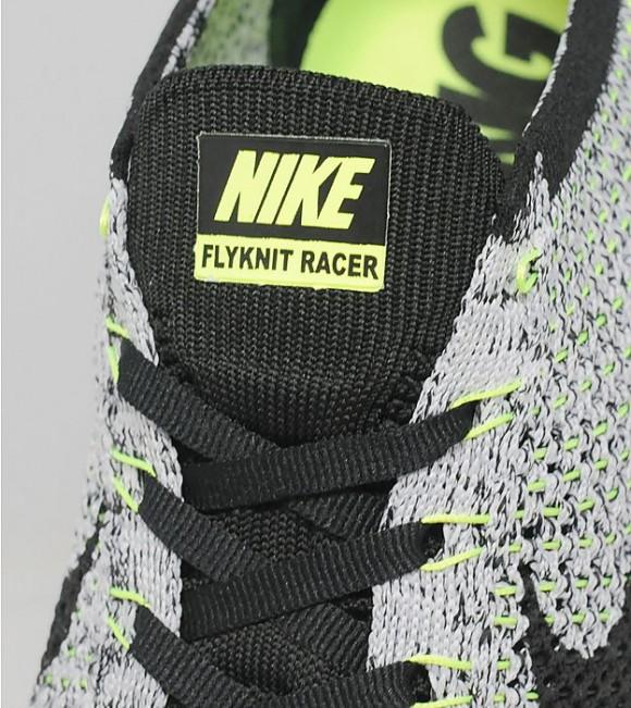 Nike Flyknit Racer - Black: White: Volt 2