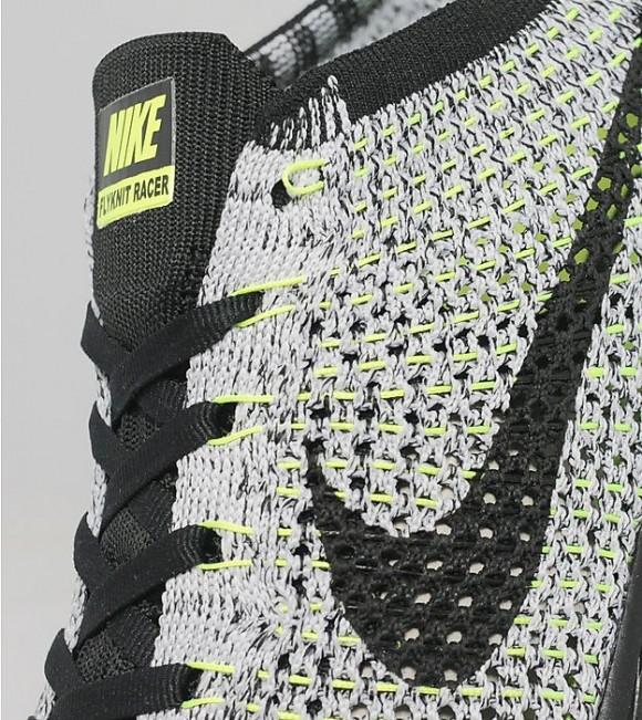 Nike Flyknit Racer - Black: White: Volt 4