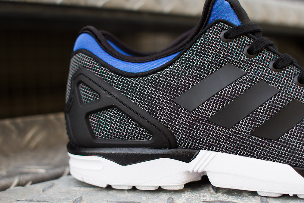 official site sells store adidas ZX Flux NPS Black/ Blue - WearTesters