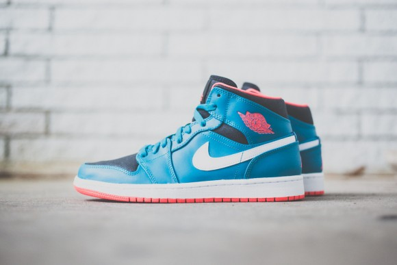 Air Jordan 1 Mid - Tropical Teal:Infrared - New Images 2