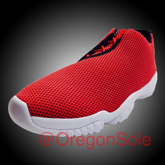 Jordan Future Low in Red: Black - White