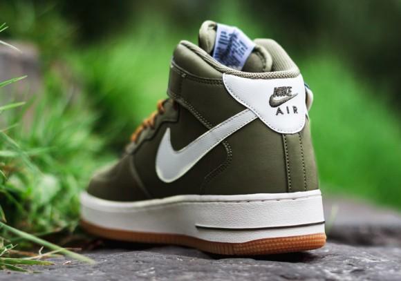 Nike Air Force 1 Mid Medium Olive:Sail:Light Brown 3