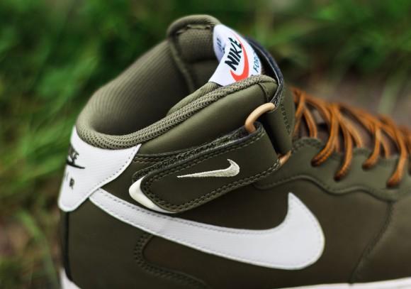 Nike Air Force 1 Mid Medium Olive:Sail:Light Brown 4