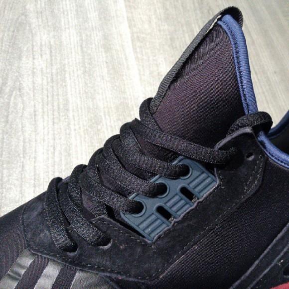 adidas Tubular Black: Powder Blue-7